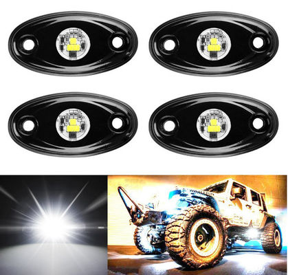 4 szt Offroad Rgb Rock Light dla Jeep Bluetooth Control 9 w Multicolor 6000K