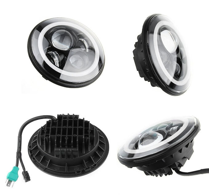 7-calowy okrągły RGB Halo Car Lights Sterowanie Bluetooth Reflektory High / Low Beam For Driving Light
